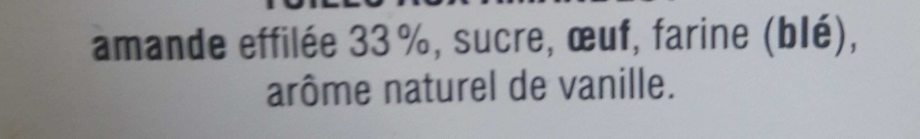 Tuiles aux amandes - Ingredients - fr