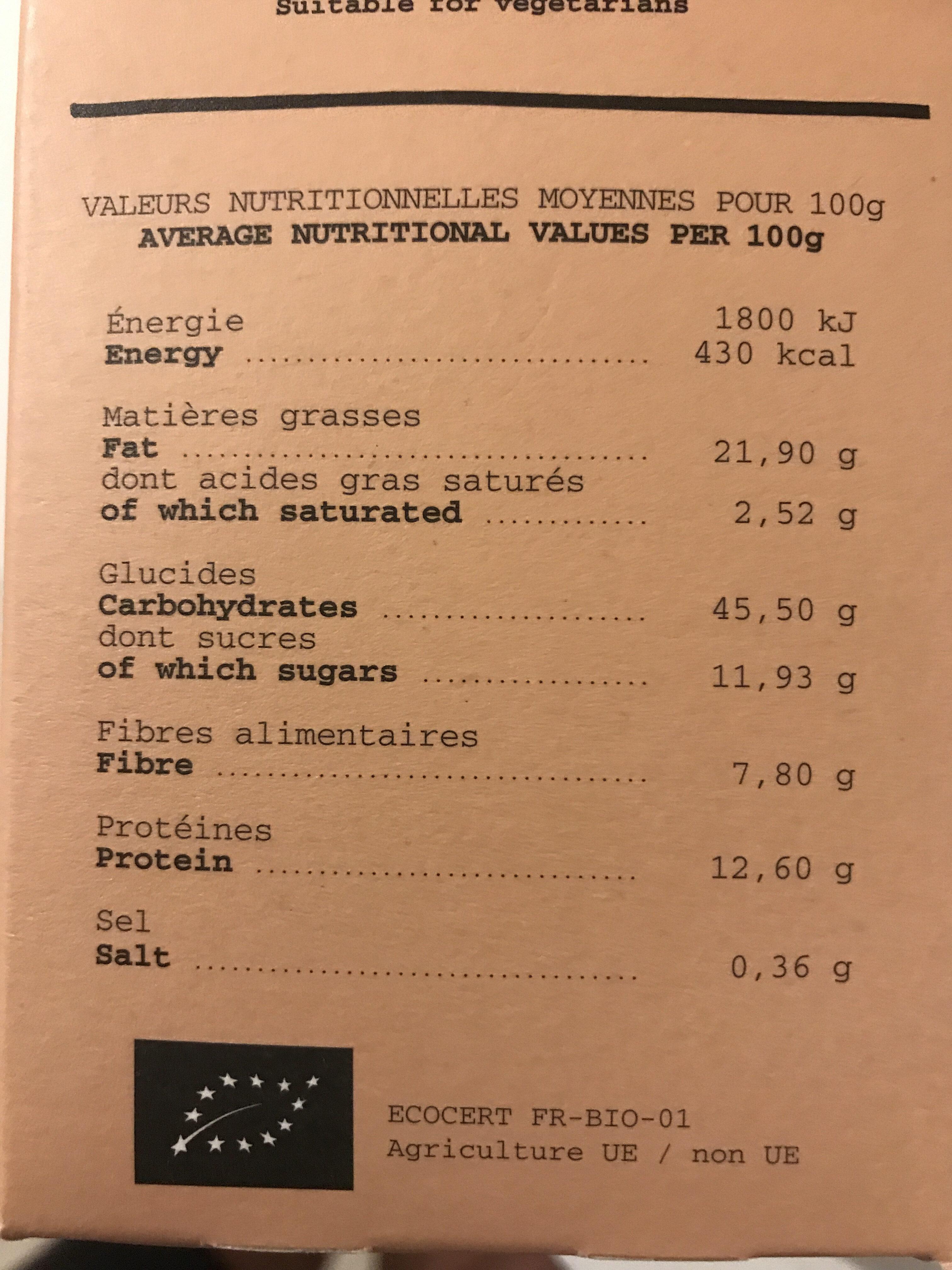 Granola à L'orange Et L'abricot - Voedigswaarden