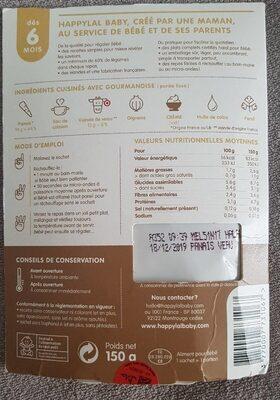 Mon émincé de panais et veau - Informations nutritionnelles - fr