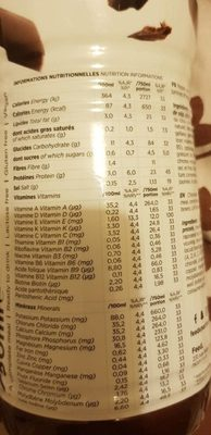 Feed chocolat - Nutrition facts - fr