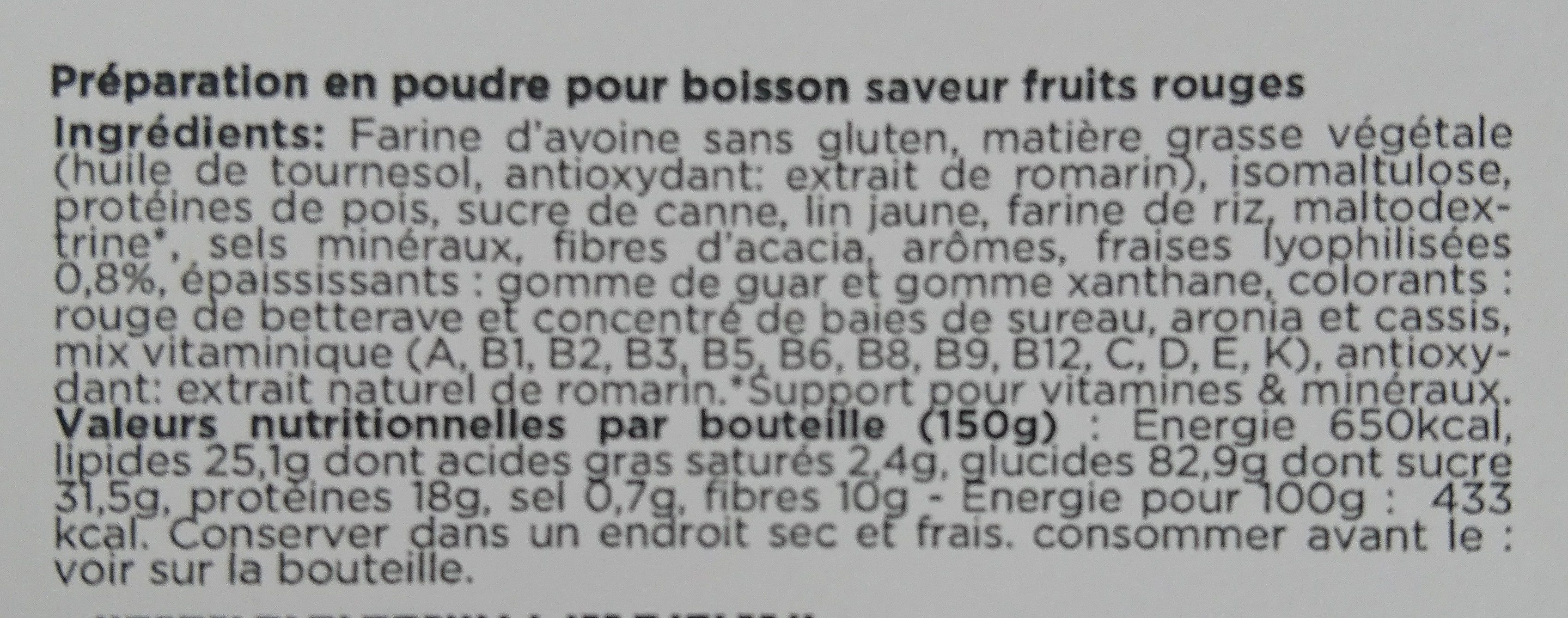 Feed Saveur fruits rouges - Ingrédients - fr