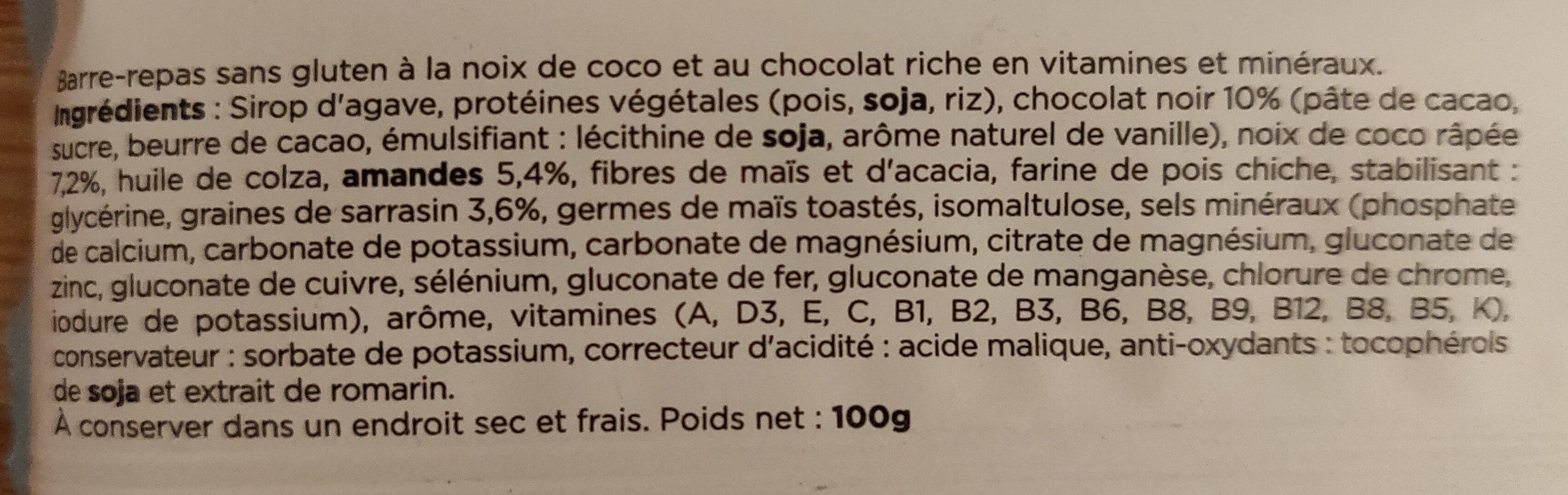 Barre Original Chocolat Noix de Coco - Ingrédients - fr