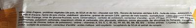 Feed barre banane chocolat - Ingrediënten