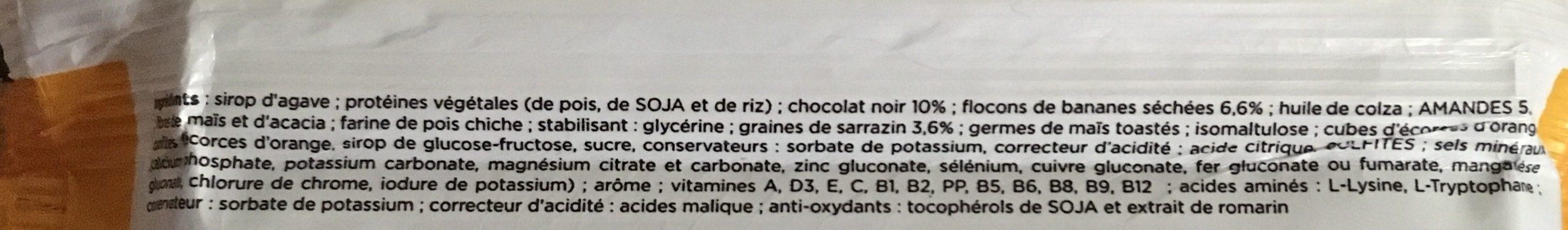 Feed barre banane chocolat - Ingrédients