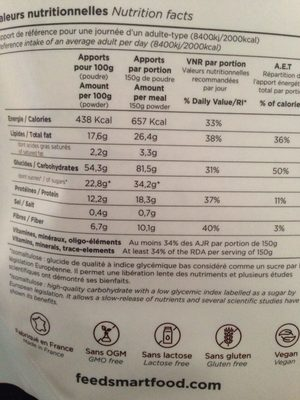 Feed saveur chocolat - Informations nutritionnelles - fr