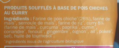 L'apéro Boules - Curry - Ingredients - fr