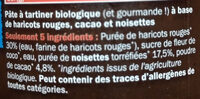 OUF! La pâte à tartiner Cacao Noisettes - Ingredients - fr