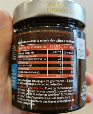 OUF! La pâte à tartiner Cacao Noisettes - Nutrition facts - fr