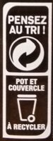 OUF! La pâte à tartiner Cacao Noisettes - Recycling instructions and/or packaging information - fr