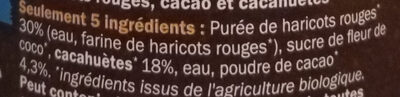 OUF! La pâte à tartiner Cacao Cacahuètes - Ingredients - fr