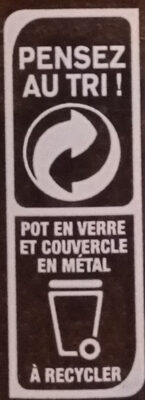OUF! La pâte à tartiner Cacao Cacahuètes - Recycling instructions and/or packaging information - fr