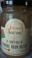 confiture de banane rhum raisin - Product - fr