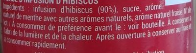 Hibissea Fruité - Ingrediënten - fr
