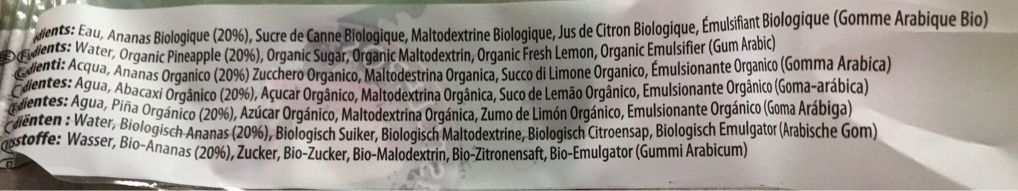 Glace Ananas Bio - Ingrédients - fr