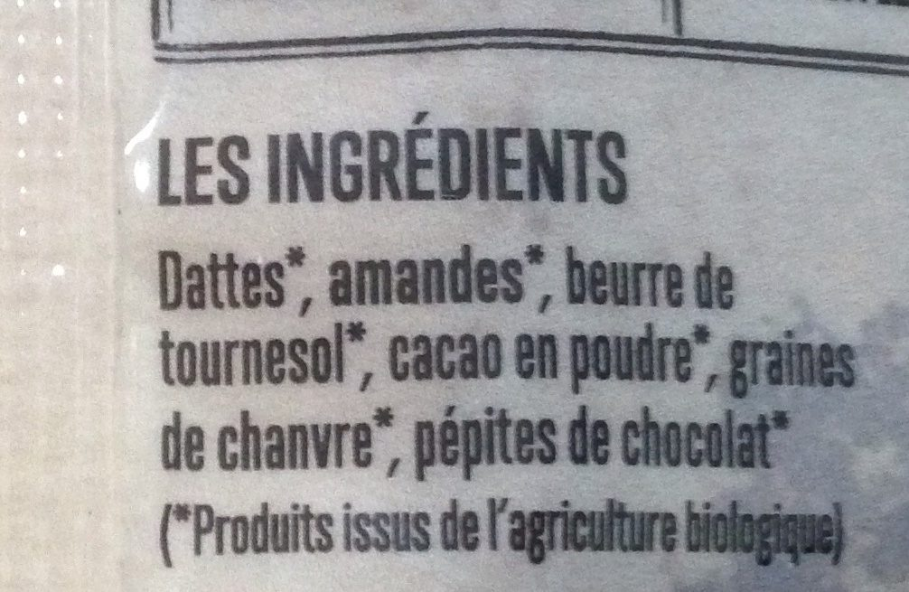 Barre choco-crunch - Ingredients