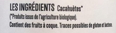 Beurre de cacahuètes - Ingrédients