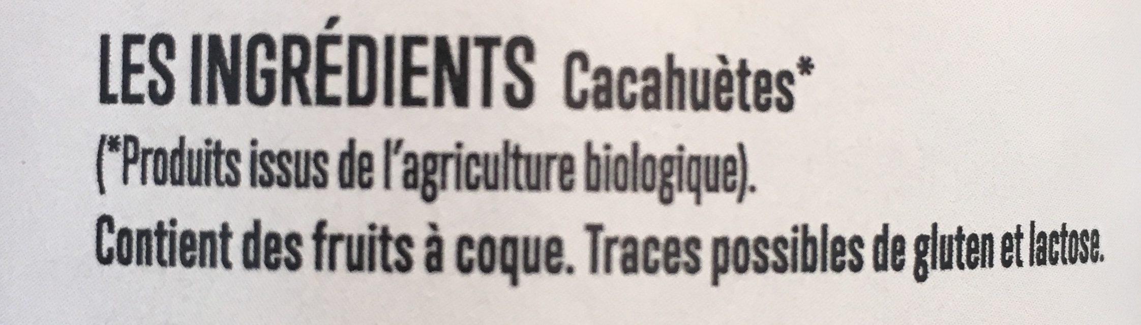 Beurre de cacahuètes - Ingredients - fr