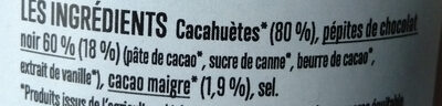 Go Nuts beurre de cacahuètes chocolat - Ingredienti - fr