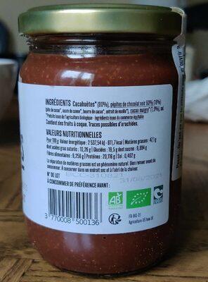 Beurre de cacahuète chocolat - Nutrition facts - fr