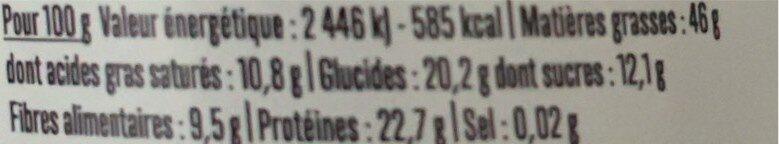 Beurre de cacahuète chocolat - Informations nutritionnelles - fr