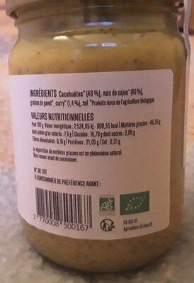 Go nuts cajou cacahuetes & curry - Valori nutrizionali - fr