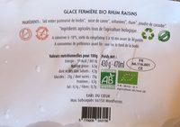 Glace bio au lait de brebis rhum raisin - Produit - fr