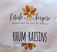 Glace bio au lait de brebis rhum raisin - Nutrition facts - fr