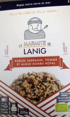 Poêlée Sarrasin pomme et algue Kombu royal - Product - fr