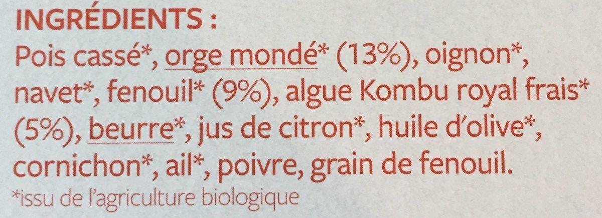 Poêlée Orge, fenouil et algue Kombu royal - Ingrediënten - fr