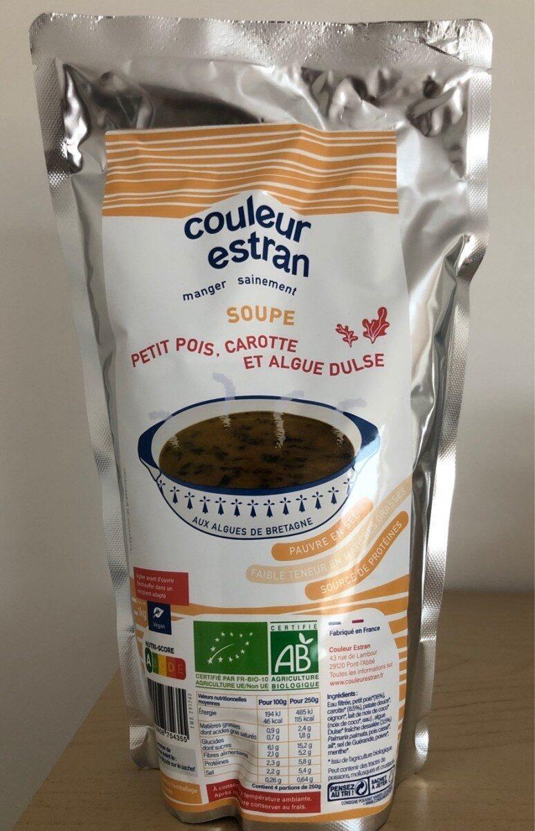 Soupe Petit pois, carotte et algue Dulse 1kg - Produit - fr