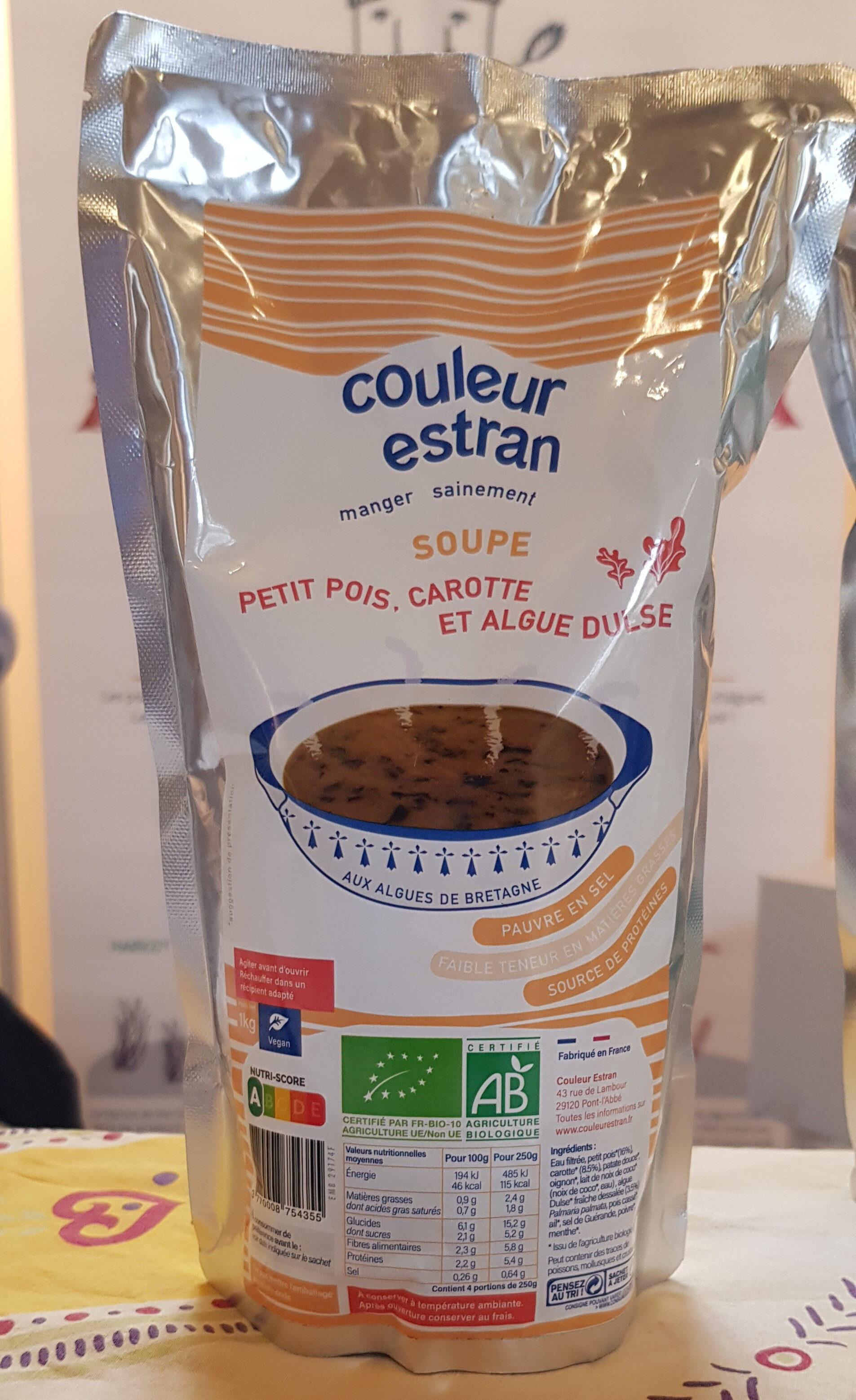 Soupe petits pois, carotte et algue dulce - Produit
