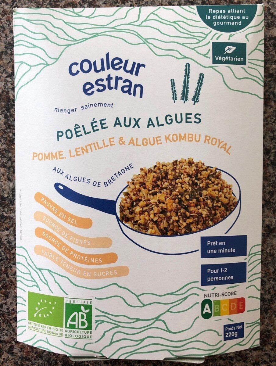 Poêlée Pomme, lentille et algue Kombu royal - Product - fr