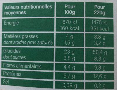 Poêlée Pomme, lentille et algue Kombu royal - Voedingswaarden - fr