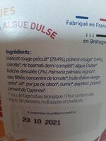 Poêlée Haricot rouge, poivron et algue Dulse - Ingrédients - fr