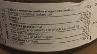 La Patte de Marie - Valori nutrizionali - fr