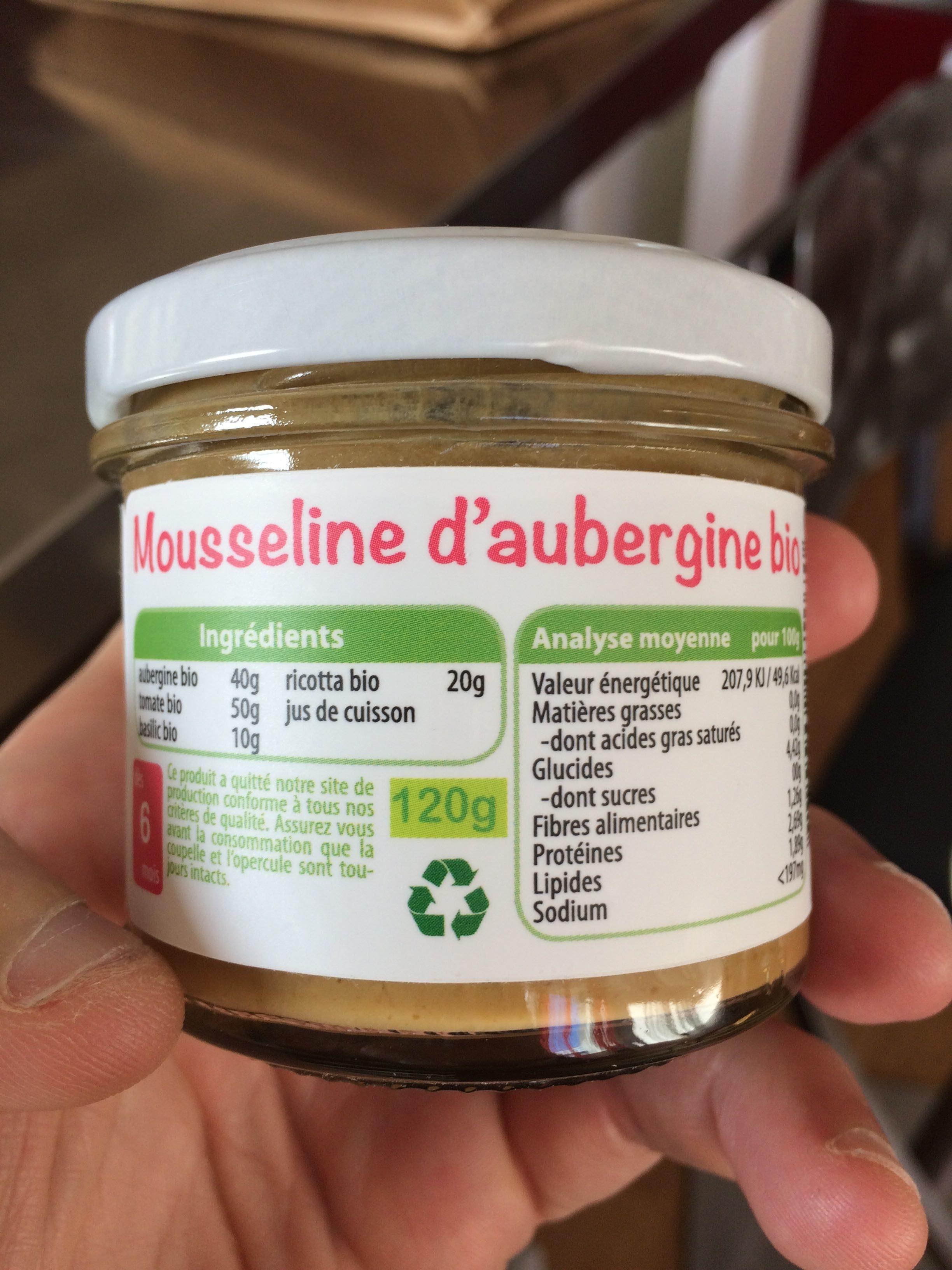 Mousseline d'aubergine bio - Produit