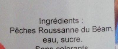 Oreillons de peches roussanne - Ingredients
