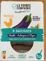 Saucisses Poulet Aubergine et Thym - Produit