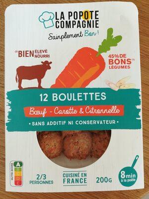 Boulettes Boeuf Carotte et Citronnelle - Produit