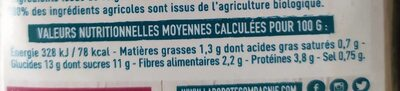 Dip apero Betterave - Nutrition facts - fr