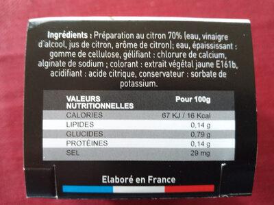 Perles au citron - Ingredients - fr