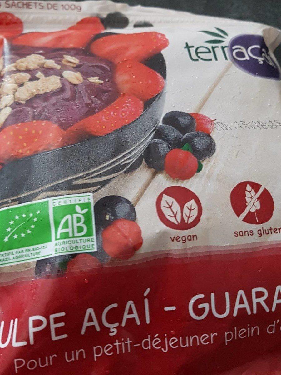 Pulpe açai-guarana bio - Produit - fr