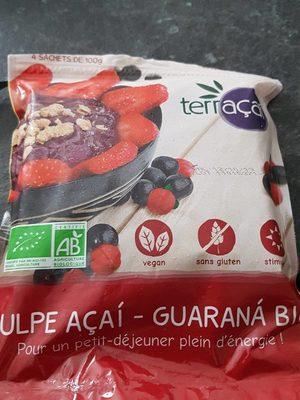 Pulpe açai-guarana bio - Informations nutritionnelles - fr