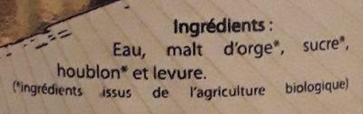 Cuvée Phénomène Bière Blonde - Ingrediënten - fr