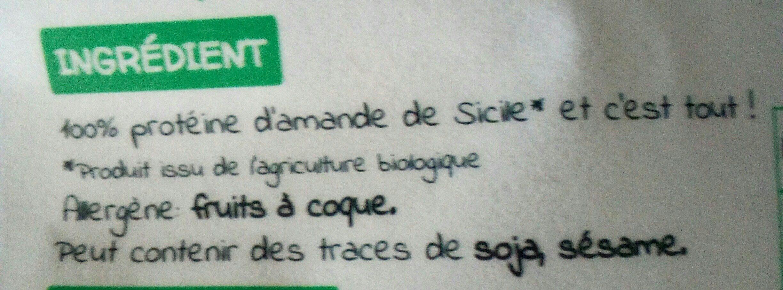 Vegan protéine amande - Ingrédients - fr