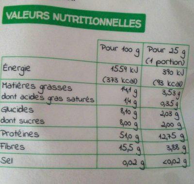 Vegan protéine amande - Informations nutritionnelles - fr