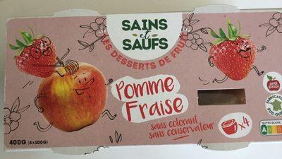 Dessert de fruit Pomme Fraise - Produit - fr