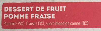 Dessert de fruit Pomme Fraise - Ingrédients - fr