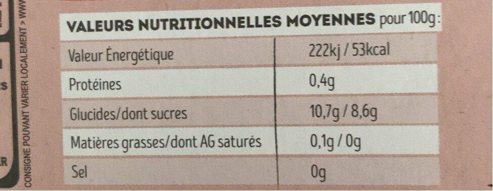 Dessert de fruit Pomme Fraise - Informations nutritionnelles - fr