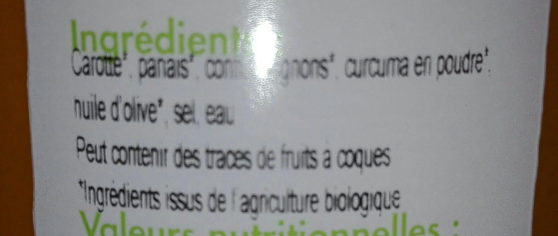 Soupe Carotte, Panais et Curcuma - Ingredients